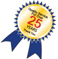 25 years of business logo