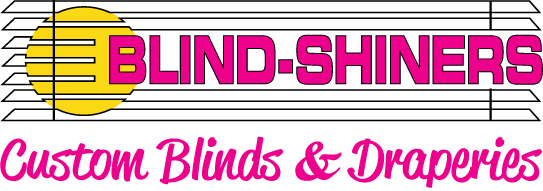 blind shiners custom blinds and draperies logo